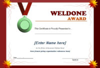 Well Done Award Certificate Template  Word  Excel Templates for Award Certificate Design Template