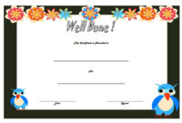 Well Done Certificate Template 8 Incredibly Designs throughout Good Job Certificate Template Free