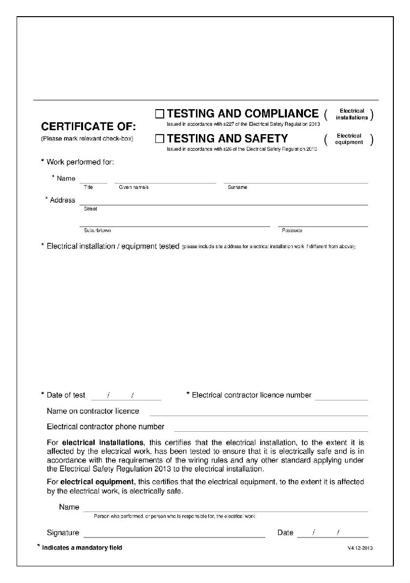 Why You Need An Electrical Compliance Certificate  Blog intended for Free Certificate Of Conformity Template Ideas