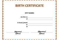 Windows And Android Free Downloads  Create Fake Birth intended for Printable Word 2013 Certificate Template