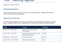 Word Templates  Outlook Templates User Guide Templates regarding 1 On 1 Meeting Agenda Template