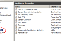 Working With Active Directory Certificate Service Via C intended for Active Directory Certificate Templates