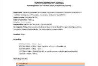 Workshop Agenda Template  9 Free Word Pdf Documents within Marketing Meeting Agenda Template