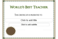 World'S Best Teacher Award Certificate  Teacher Awards in Awesome Free Printable Best Wife Certificate 7 Designs
