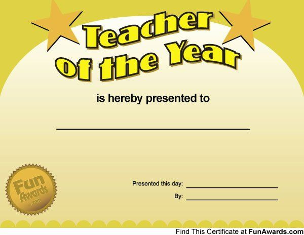 World'S Best Teacher Certificate Best Of Funny Teacher inside Best Costume Certificate Printable Free 9 Awards