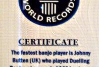 World'S Fastest Banjo Picker Calls Minnesota Home  Mpr regarding Guinness World Record Certificate Template