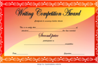 Writing Contest Winner Certificate Template Free 2 in Amazing Pageant Certificate Template
