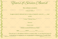 Years Of Service Award Certificate Peach 4333 In 2020 intended for Free Certificate For Years Of Service Template