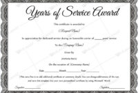Years Of Service Award Templates  Certificate Templates with Congratulations Certificate Template 10 Awards