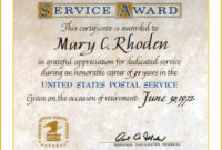 Years Of Service Certificate Template Free Of 9 Retirement intended for Printable Retirement Certificate Template