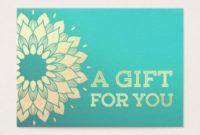 Yoga Instructor Gift Certificate Gold Foil Mandala intended for Yoga Gift Certificate Template Free