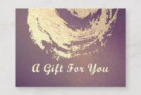 Yoga Instructor Gift Certificate Gold Zen Symbol  Zazzle in Quality Yoga Gift Certificate Template Free