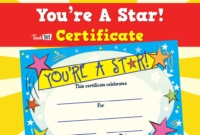 You'Re A Star  Certificate  Star Students Student Of inside Student Of The Week Certificate