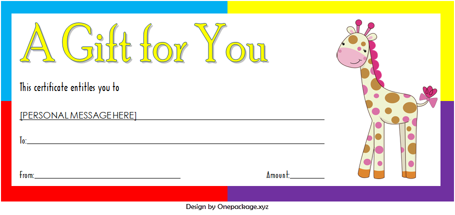 Zoo Gift Certificate Templates Free Download 10 New Designs inside Gift Certificate Template In Word 10 Designs