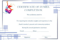 Zumba Certificate Templates 10 Free Customizable Design regarding Fitness Gift Certificate Template