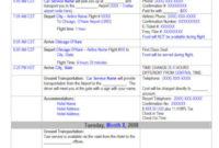 10 Travel Itinerary Templates  Google Docs Word Excel with regard to Travel Agent Itinerary Template