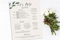 Bachelorette Party Timeline And Details Template Bridal intended for Bachelorette Weekend Itinerary Template