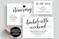 Bachelorette Weekend Invitation Download Bachelorette with Bridal Shower Itinerary Template