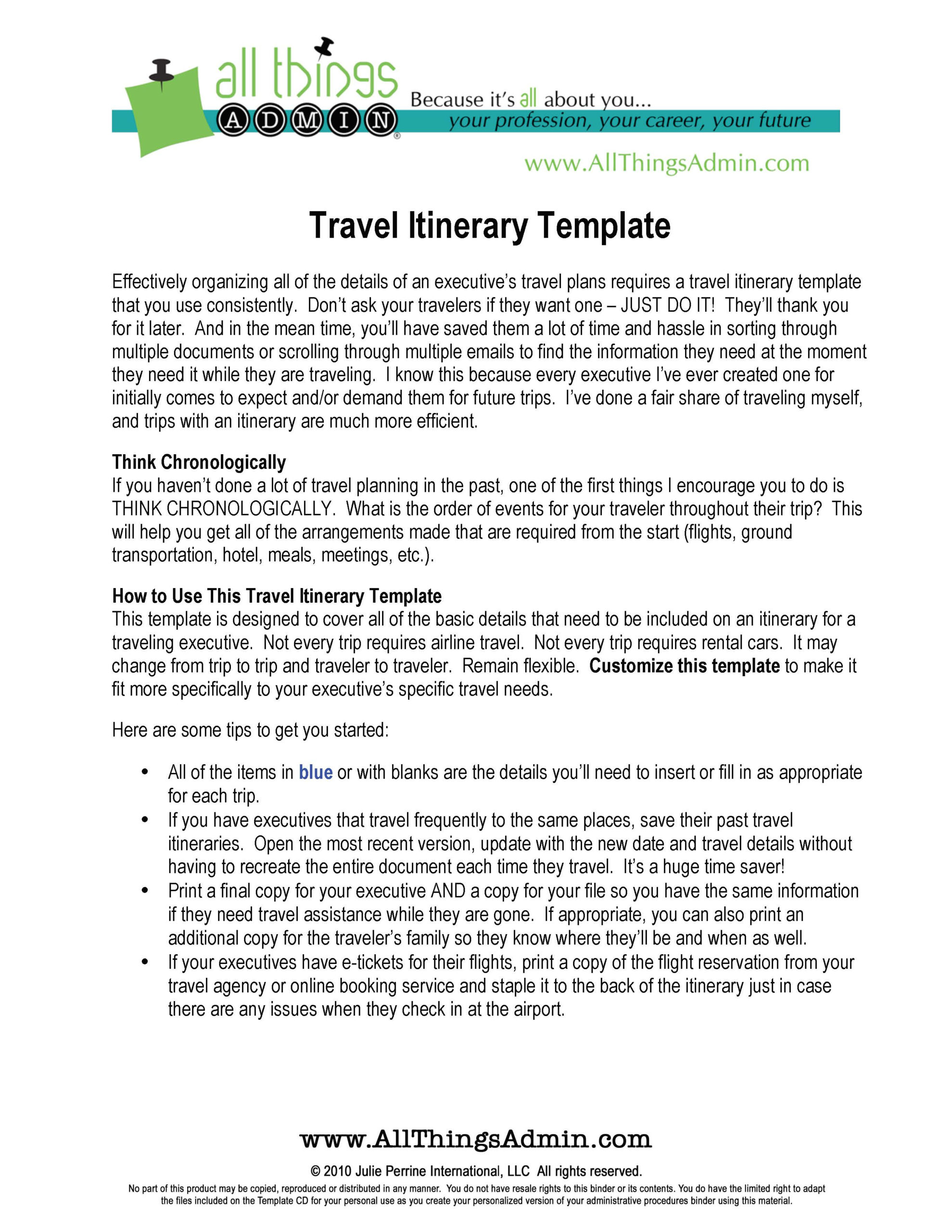 Basic Flight Itinerary Template  Pdf Format  Edatabase throughout Executive Assistant Travel Itinerary Template