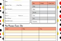 Free Disney World Itinerary Template  Calendar Template inside Fun Travel Itinerary Template