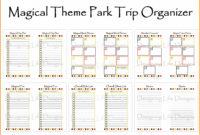 Free Printable Disney Week Itinerary Template  Calendar within Disney World Itinerary Template