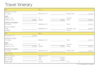 Free Printable Itinerary  Free Printable intended for Group Travel Itinerary Template