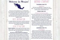 Pin On Example Wedding Template Program intended for Destination Wedding Weekend Itinerary Template