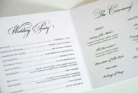Pincindy Heidmann On Weddings  Wedding Programs intended for Wedding Ceremony Itinerary Template
