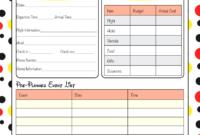 Printable Disney Itinerary Template  Calendar Template throughout Disney World Itinerary Template