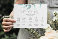 Printable Wedding Itinerary Template Card Timeline Welcome intended for Wedding Welcome Itinerary Template