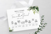 Timeline Template Fully Editable Schedule Of Events for Bridal Shower Itinerary Template