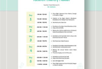 Vacation Itinerary Planner Template Ad  Affiliate regarding Vacation Itinerary Planner Template
