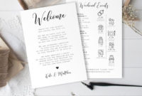 Wedding Day Itinerary Template Welcome Letter 100 pertaining to Wedding Welcome Itinerary Template