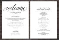 Wedding Itinerary Template Wedding Itinerary Pdf Template regarding Honeymoon Itinerary Template