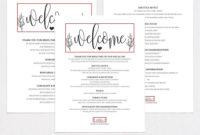 Wedding Itinerary Wpc326Weddingprintablesco On with regard to Honeymoon Itinerary Template