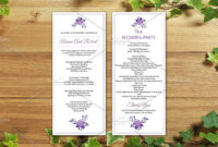 Wedding Program Template  Ceremony Program Template intended for Wedding Ceremony Itinerary Template
