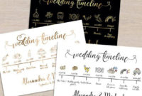 Wedding Timeline Printable Sign Card Program Template for Honeymoon Itinerary Template