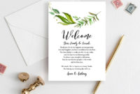 Wedding Weekend Itinerary Template Welcome Bag Tag Note  Etsy within Wedding Welcome Bag Itinerary Template